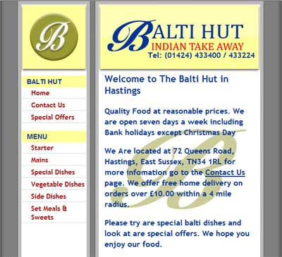 Image Of Balti Hut Hastings Site